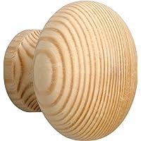 Metafranc Meubelknop Ø 45 mm - grenen - onbehandeld - hoogwaardige afwerking - mooi gevormd en decoratief - incl…