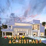 Jinhua Yiyan Merry Christmas Yard Signs - 18 Pack Colorful Yard Decorations Outdoor Lawn ,Holiday and Christmas Party…