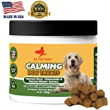 In Motion Anxiety Calming Treats for Dogs- Anti Anxiety & Stress Relief Treats for Small, Medium & Large Dogs - Organic Hemp Oil & Valerian Root for Barking, Storms & Travel - Bacon Flavor - 120 Count