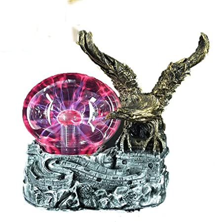 LPPWDONSN Crystal Ball, Creative Golden Eagle Magic ...