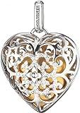 Engelsrufer Anhänger Herz mit Zirkonia Silber rhodiniert mit Klangherz gold ERP-09-HEART-ZI-L