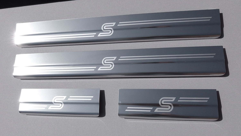 Focus Zetec 'S' MK3 2011 onward and 2014 Facelift model, 4 Door Stainless Steel Sill Protector Kick Plates Lockwood