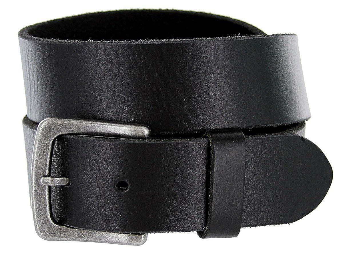 Hagora Men 1-1//2 Wide Genuine Full Grain Leather Antique Finish Buckle Belt