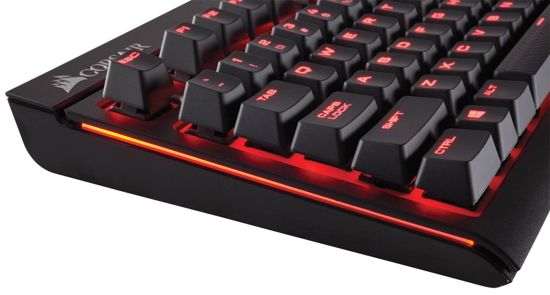 CORSAIR STRAFE Mechanical Gaming Keyboard - Red LED Backlit - USB Passthrough - Linear and Quiet - Cherry MX Red Switch by Corsair (Image #7)