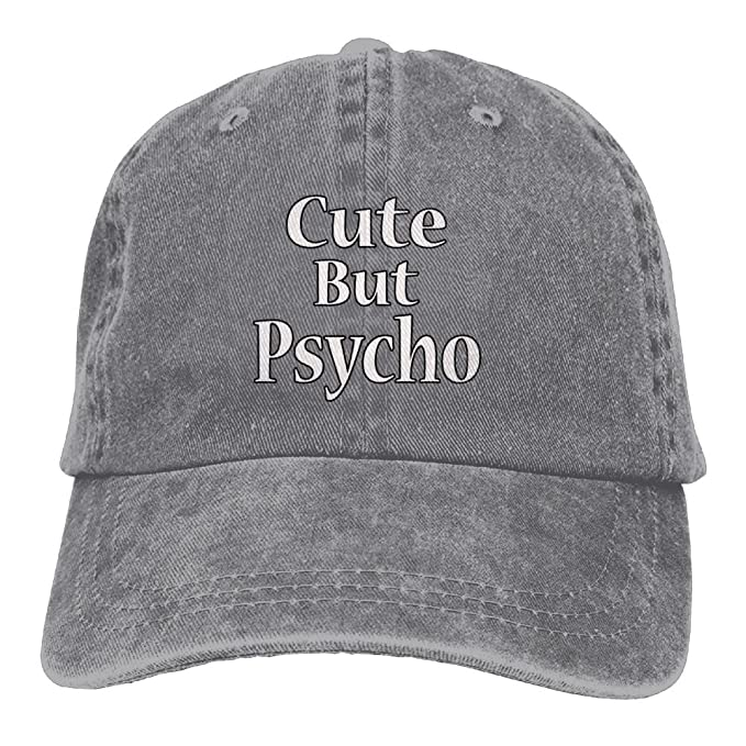 aa3cfa87faa56 Arsmt Cute But Psycho Denim Hat Adjustable Women s Casual Baseball ...