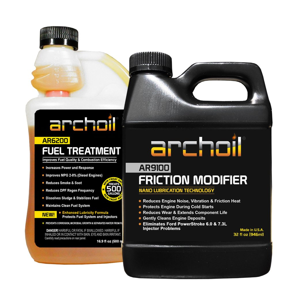 Archoil Performance Kit P-2 for All Vehicles - 32oz AR9100 Friction Modifier + 16.9oz AR6200 Fuel Treatment