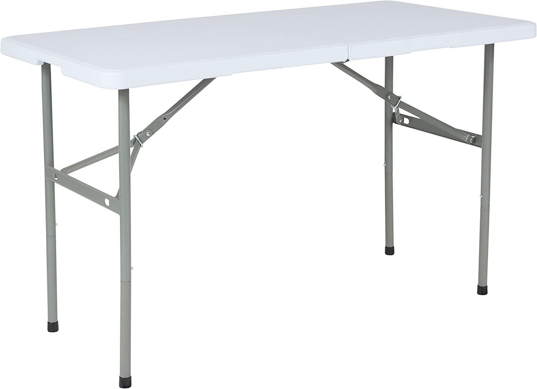 - Amazon.com: Flash Furniture 4-Foot Bi-Fold Granite White Plastic