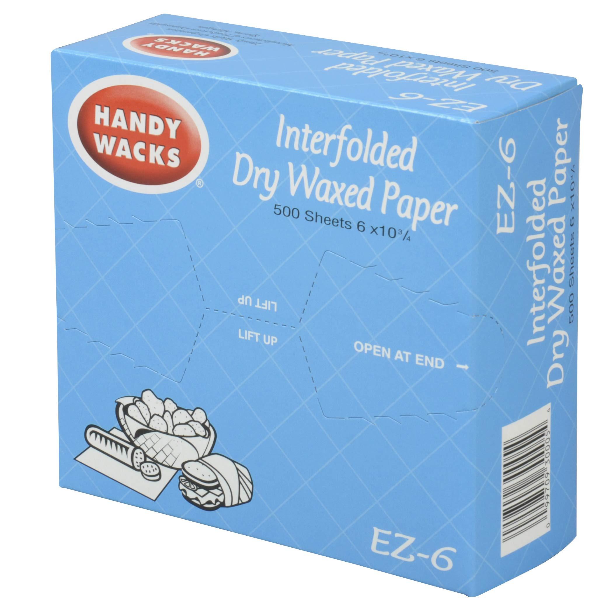Handy Wacks Interfolded Deli Paper, 500 sheets per pack - 12 per case. by Handy Wacks (Image #1)