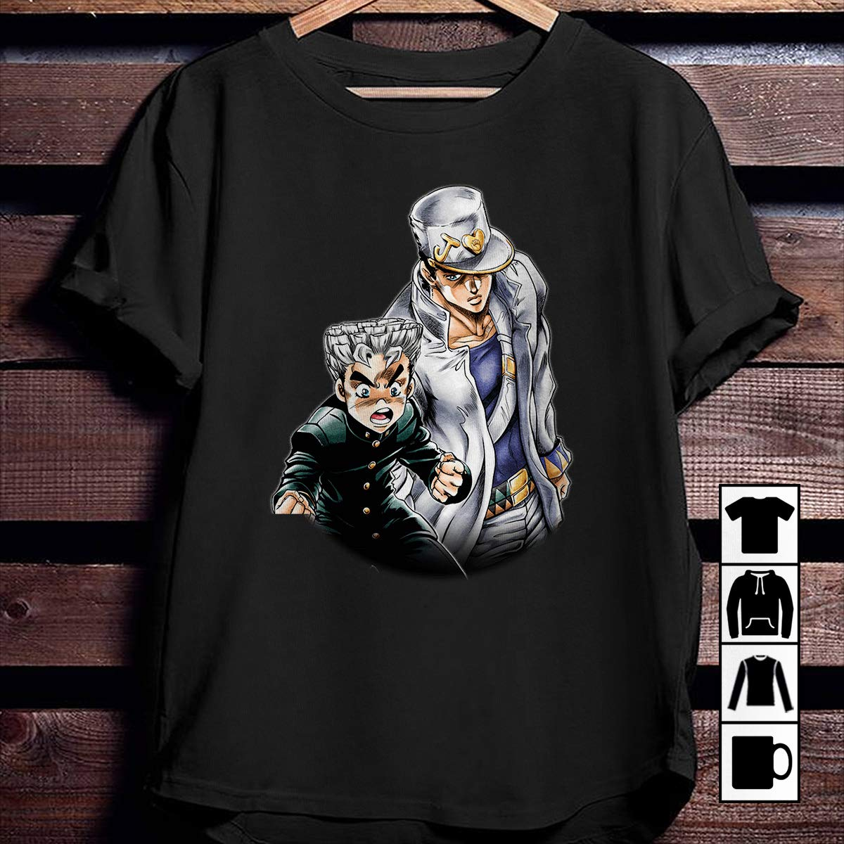 Jotaro Kujo Koichi Hirose Dio Brando Yoshikage Kira JoJo/_s Bizarre Adventure T Shirt Long Sleeve Sweatshirt Hoodie for Men and Women