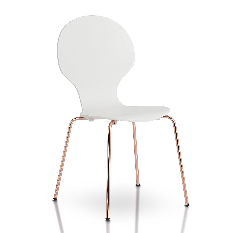 Amazon.com: IoHOMES Jaywald Modern Bentwood Chair (Set Of 4), One Size,  White: Kitchen U0026 Dining