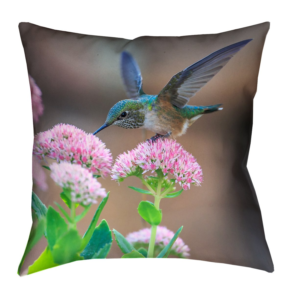 ArtVerse Andrea Reiman Hummingbird 20\' x 20\' Poly Twill Throw Pillow
