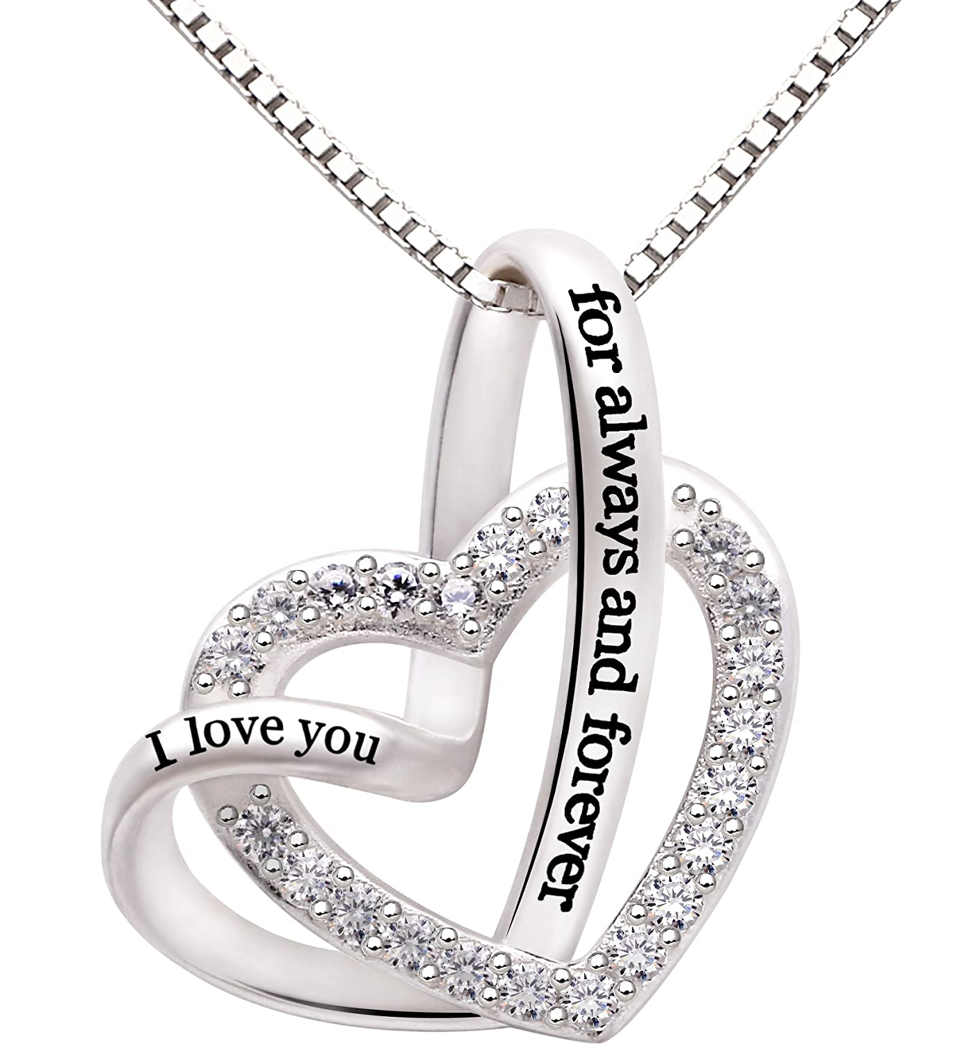 in with all sterling platinum finish cubic round necklaces silver zirconia necklace crislu