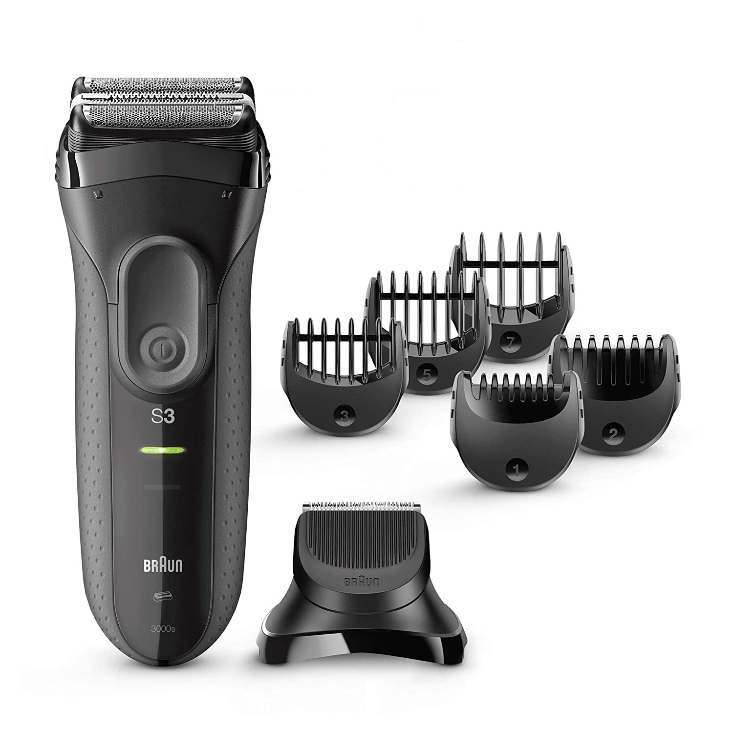 Braun Series 3 Shave & Style 3000BT 3-in-1 Electric Shaver/Razor for Men with Precision Beard Trimmer
