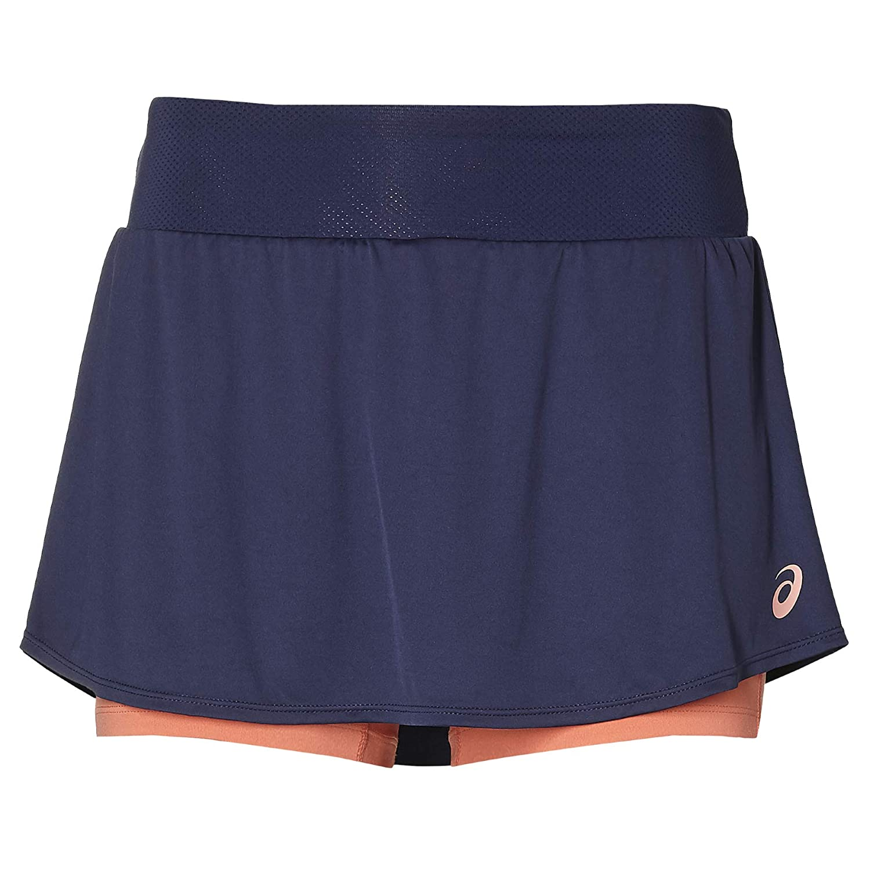 ASICS Falda Club Skort Azul Marino Mujer: Amazon.es: Deportes y ...