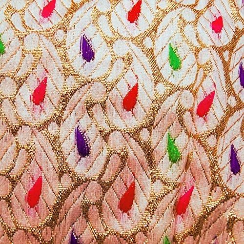 Readymade Diseñador Cosido Almohadillado Saree Blusa Nuevo Colección Indio Tradicional Mujeres Recorte Cima Golden y Beige-2