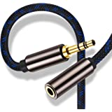 3.5mm AUX Cord Extension 40 Feet,Ruaeoda Double Shielded Headphone Auxiliary Extension Cable 3.5mm Male to 3.5mm Female Stereo Audio Extension Cable 40 Foot Braided 1/8 Long AUX Extension Cord