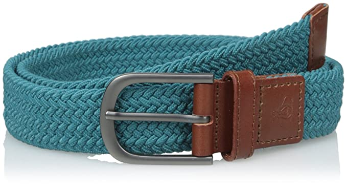 "GREEN 3/"" WIDE BRAIDED LEATHER /& STRETCH MATERIAL LADIES BELT S44 ONE SIZE"