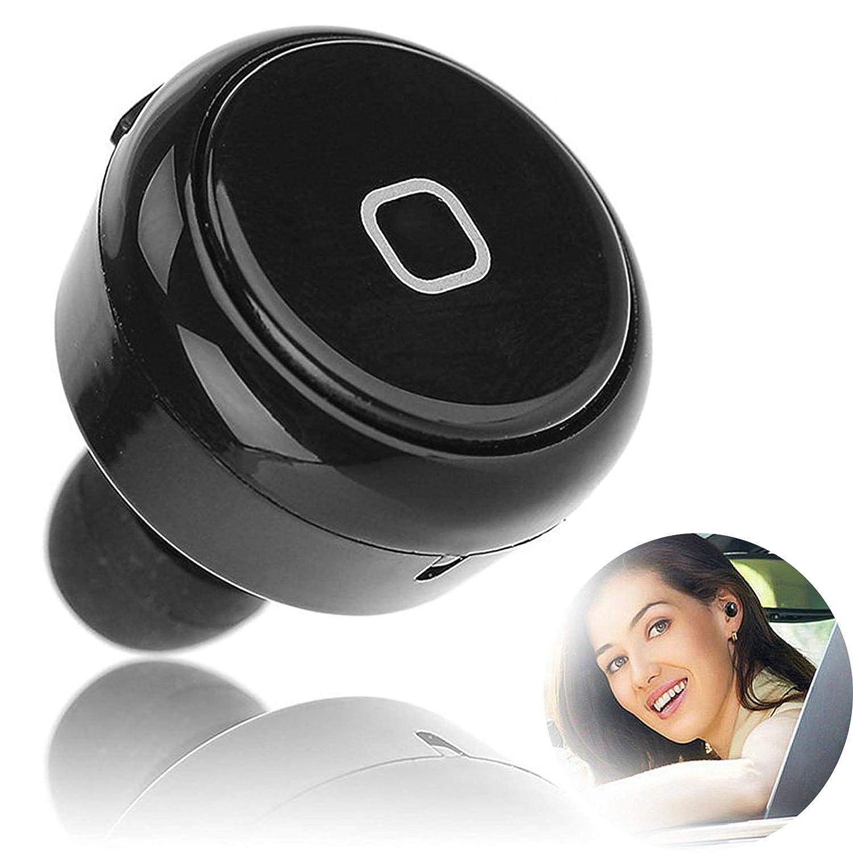 TOPEPOP Bluetooth イヤホン ミニ インイヤー イヤホン ステレオ ヘッドセット ワイヤレス マイク付き ビジネス イヤホン Android Samsung HTC Huawei その他のスマートフォン タブレットに対応 ブラック B018FZVZMS