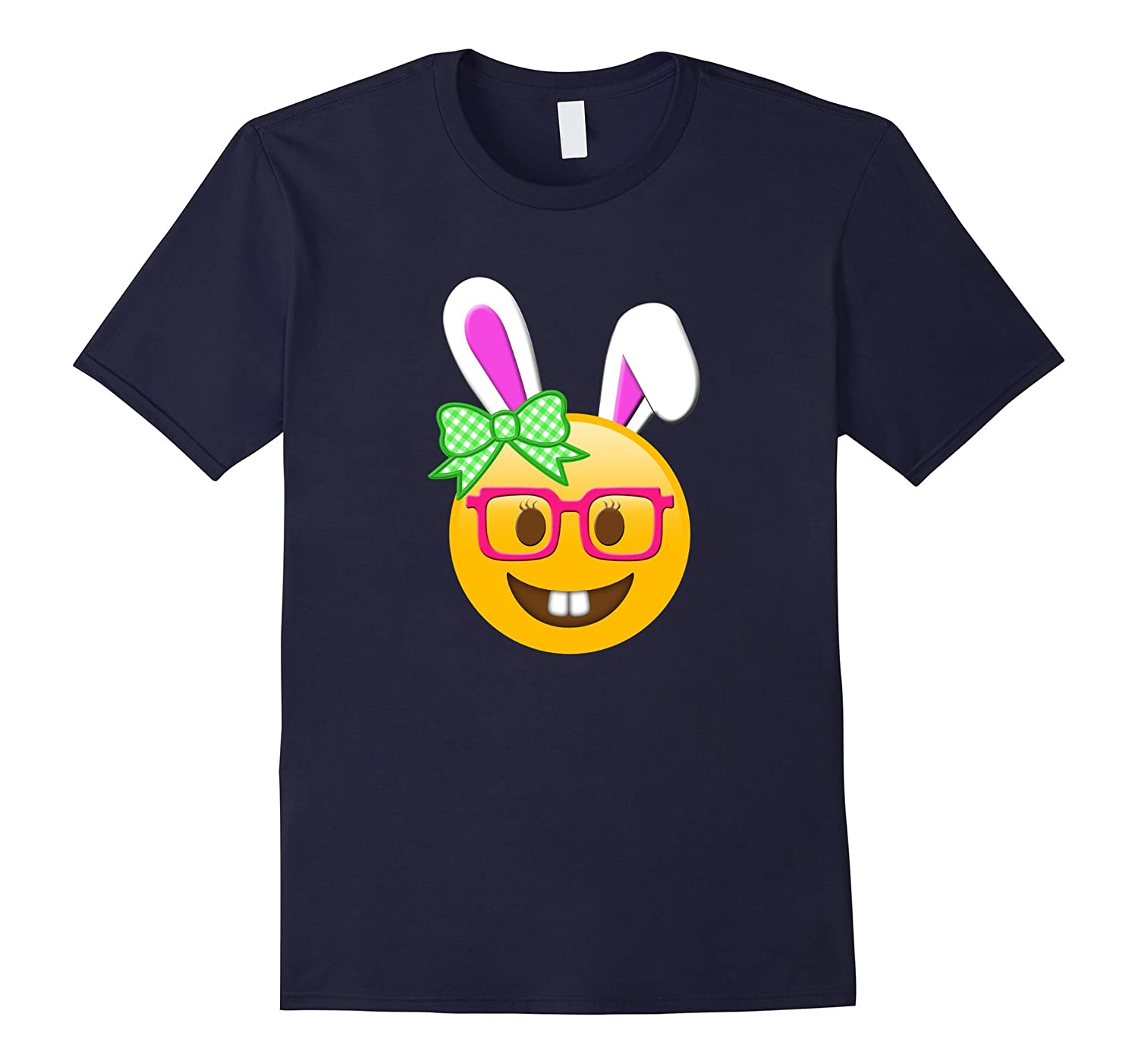 Emoji Nerd Bunny Easter Shirt Kids Girls Women Basket Gifts-TD