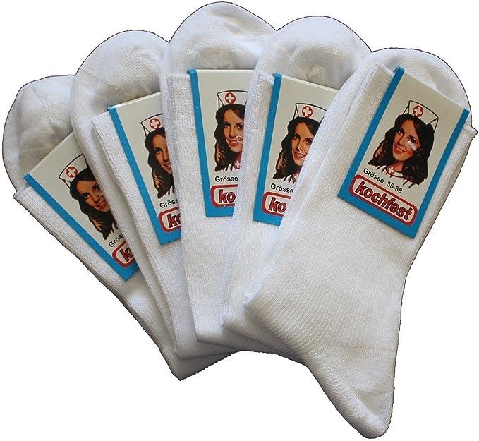 Tobeni 10 Pares de Calcetines Mujer en Medias de 100 Algodon con Encajes ligados a Mano Color Blanco Tamano 35-38: Amazon.es: Ropa y accesorios
