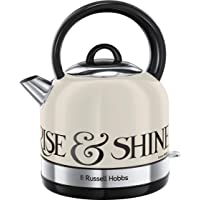 Russell Hobbs 23907 Emma Bridgewater Kettle, Black Toast Cordless Electric Kettle Toast and Marmalade, 3000 W