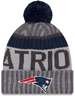 28b1693eeec New England Patriots New Era 2017 NFL Sport Knit Cuffed Hat with Pom -  Graphite