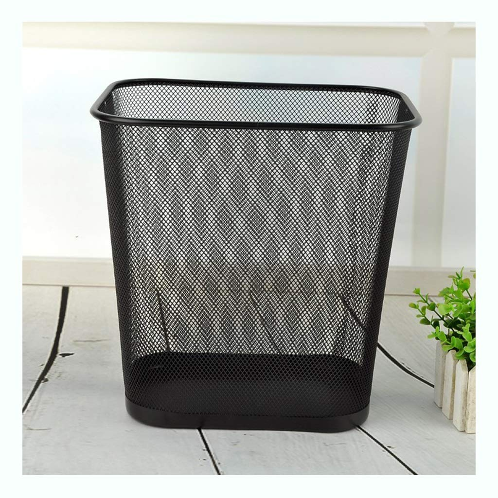SX-ZZJ trash can- Trash Can - Office Hotel Home Large Metal Mesh Cleaning Trash Can