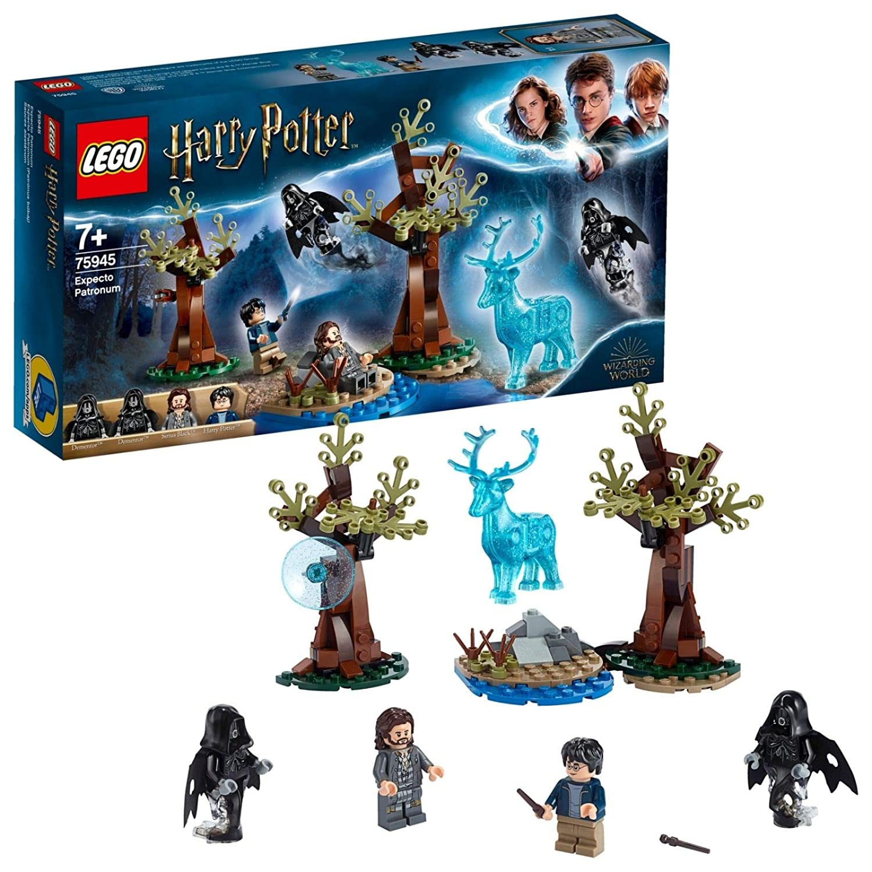 LEGO 75945 Harry Potter Expecto Patronum Set with 4 Minifigures and  Patronus Stag Figure, Multicolour