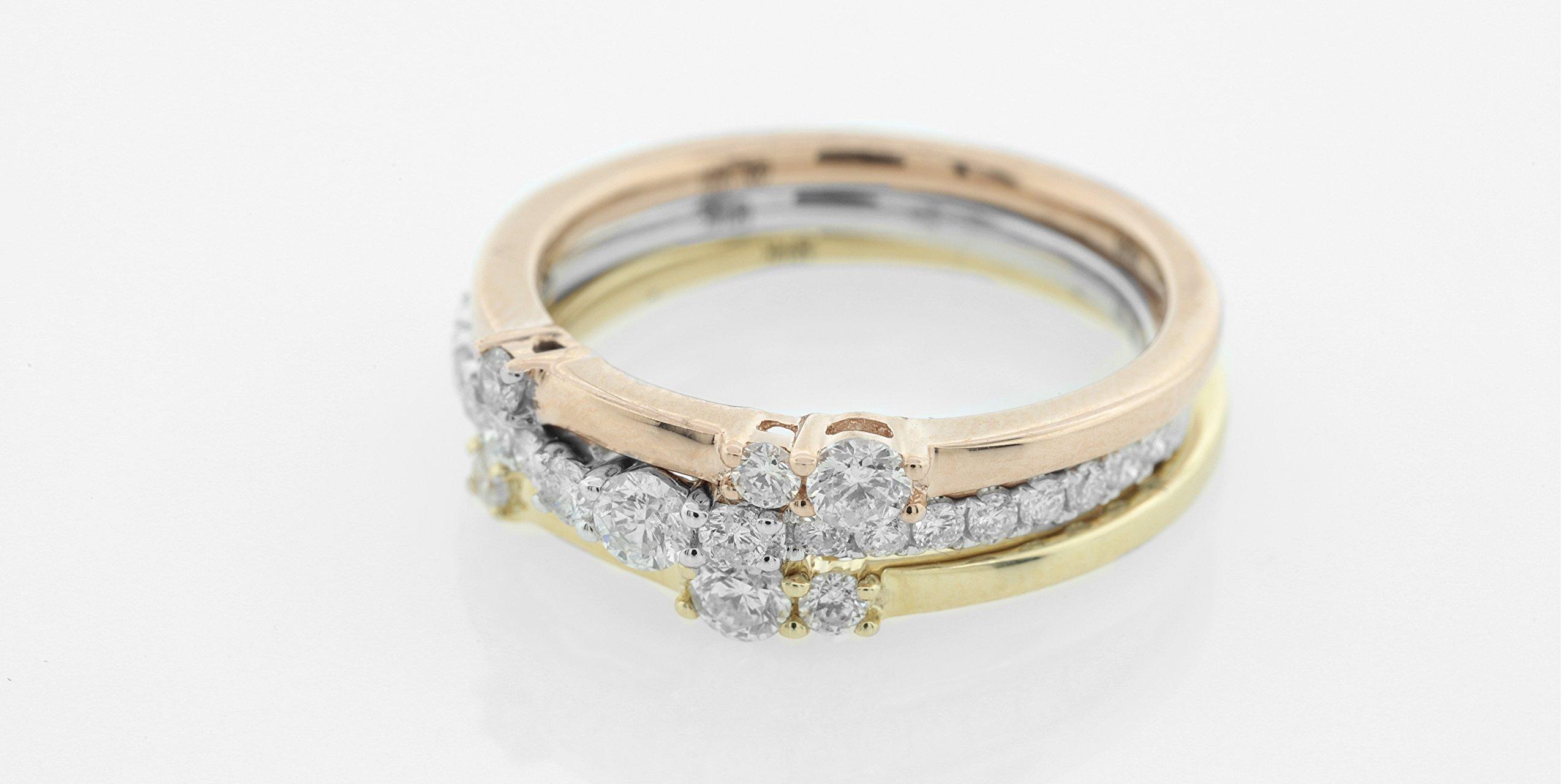 London Fine Jewelry Round Diamond in 14K Tri-Tone Gold