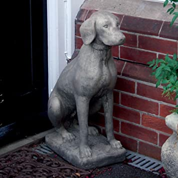 Large Garden Statues Pointer Dog Sculpture Ornament Amazonco