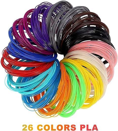 3D Pluma Filamento Rellenar PLA - 26 Colores 520 Pies Lineales ...