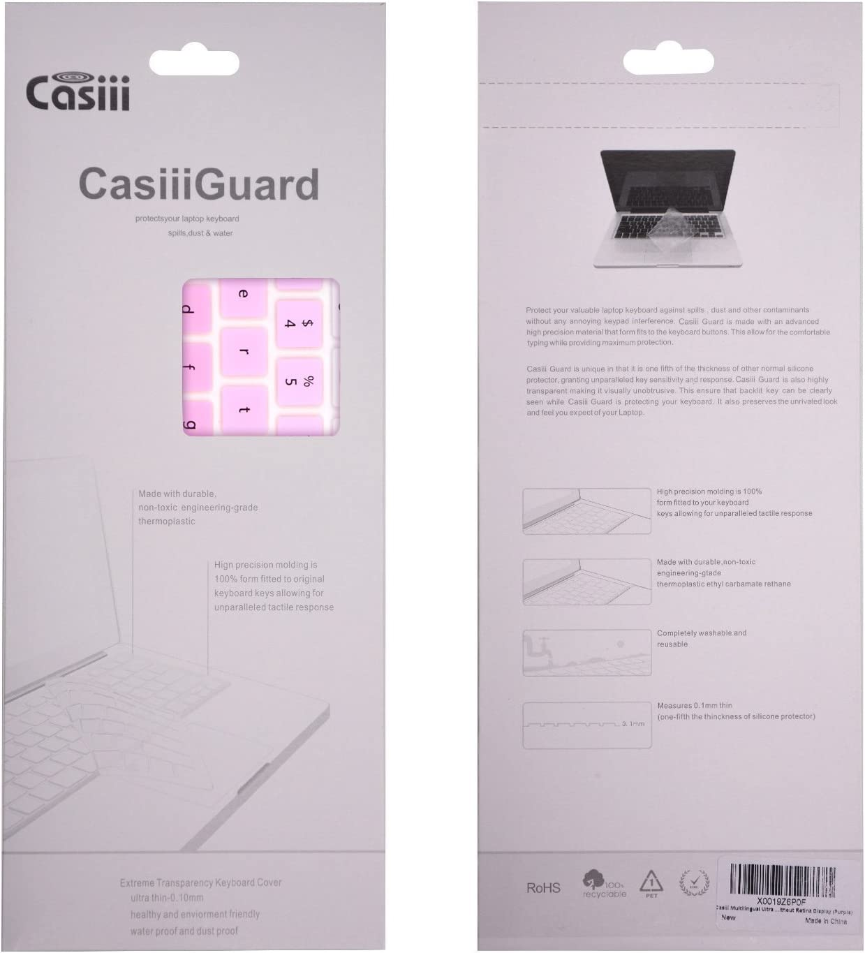 Casiii Best Acer Chromebook Keyboard Cover Ergonomic Silicone Covers Back to School Buy 1 Get 1 Cool Colors Fits Acer Chromebooks 11.6 Ombre Pink Durable Eco-Friendly /& Hygienic