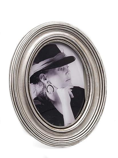 MARCO marcos ovalados foto 13x18cm color plateado estilo antiguo ...