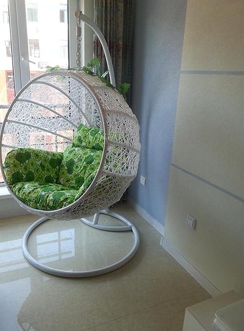 Interior cesta mimbre silla columpio colgante Balancín ...