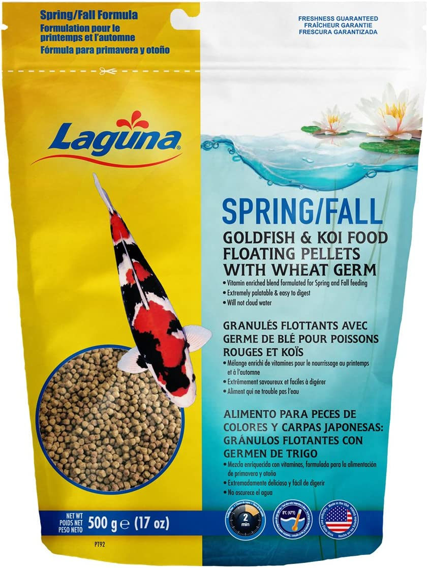 Laguna Spring & Fall Floating Pond Fish Food with Wheat Germ