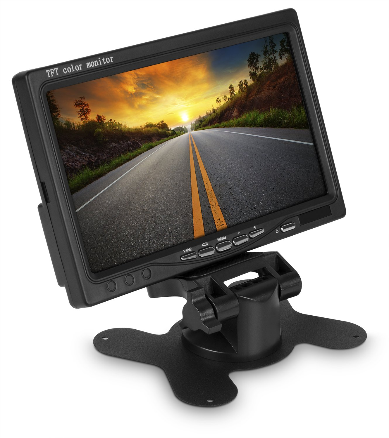 WickedHD 7 Inch High Resolution Rotating Color TFT LCD Rear View Camera Display Monitor with Remote Control and Mounting Bracket by WickedHD (Image #4)