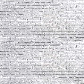 Sjoloon White Brick Wall Backdrop White Brick Photo Backdrop Thin Vinyl Photography Backdrop Background Studio Prop 10931 8x8ft Camera Photo