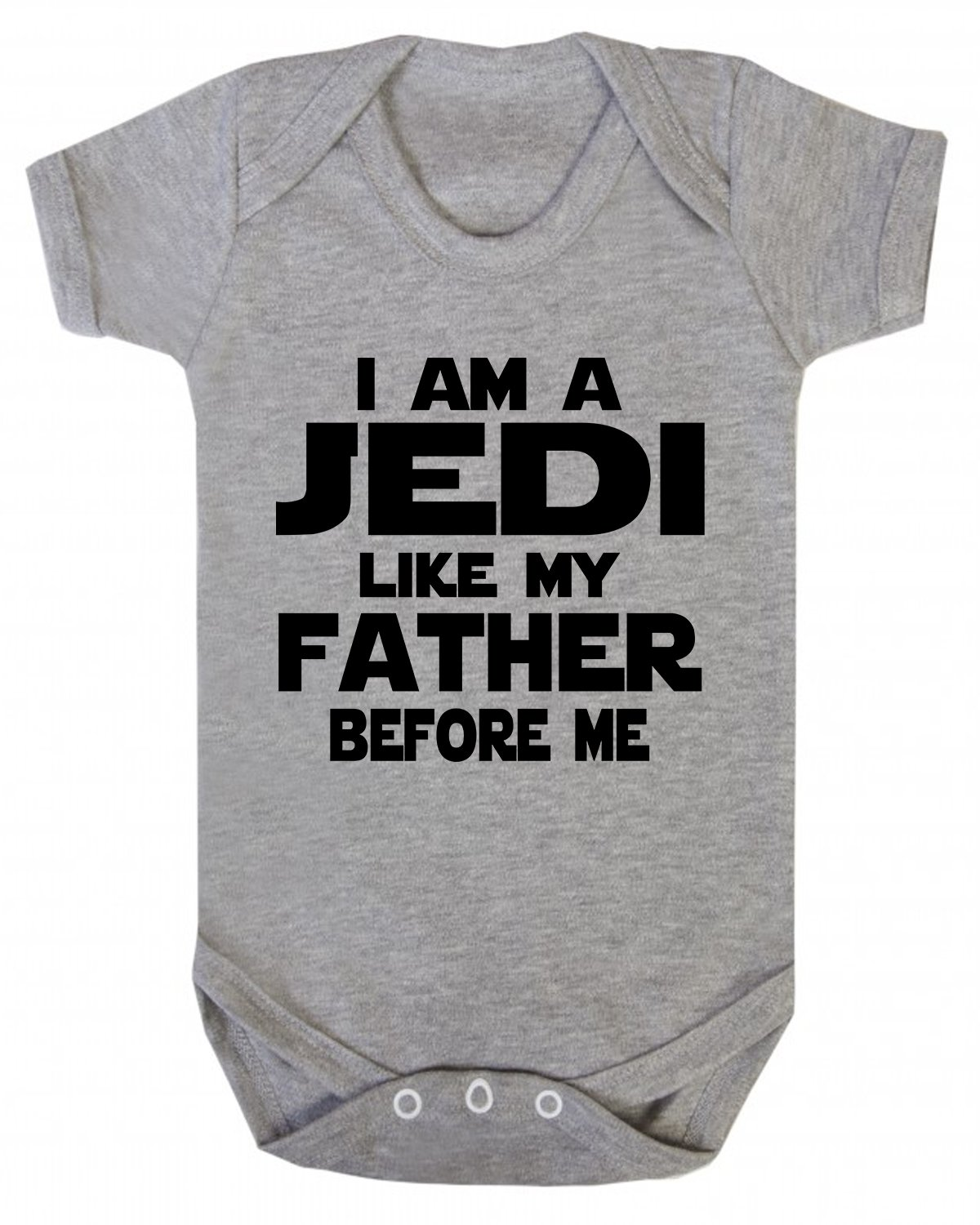 I am a Jedi Like my Father Before Me Star Wars Novelty Baby Vest Sleepsuit babygrow Novelty Jedi (6-12 Months, Red) Ickle Peanut