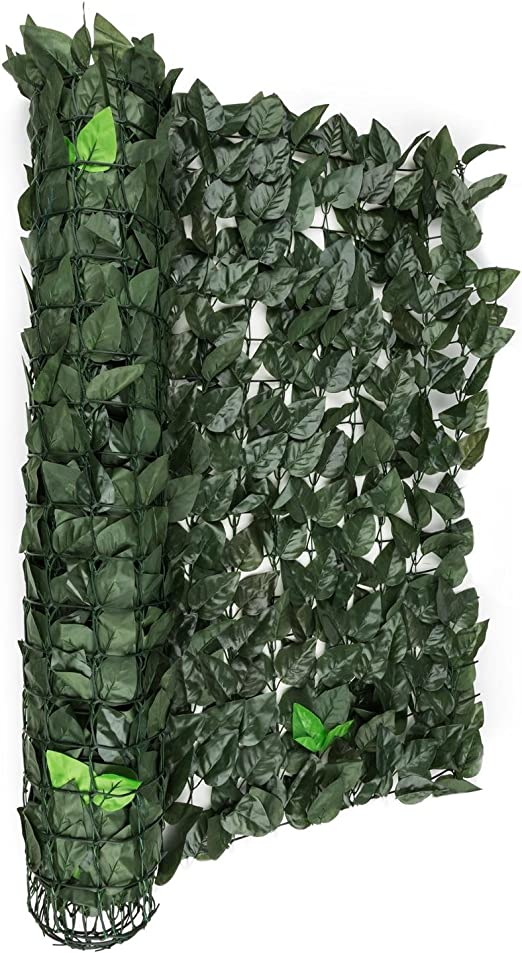 Blumfeldt Fency Dark Ivy Valla de protección Visual y Anti Viento (Malla sombreo 300x100 cm, Cubierta Exterior sombreadora, Pantalla privacidad balcón jardín, imitación Hojas seto arbusto Verde): Amazon.es: Jardín