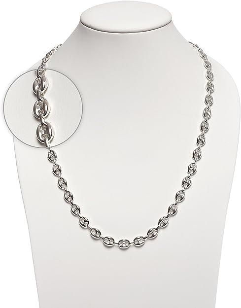 925 Silberkette Bohnenkette Silber 8.5mm 55cm