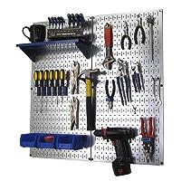 Wall Control Metal Pegboard Utility Tool Organizer Kit