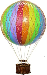 Authentic Models, Floating The Skies Air Balloon, Hanging Home Decor - Rainbow