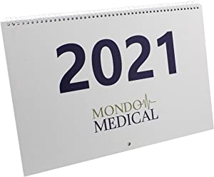MonMed Extra Large Print Calendar 2021-2022 - Hanging 1 Year Giant Calendar Wall Calendar with Big Squares