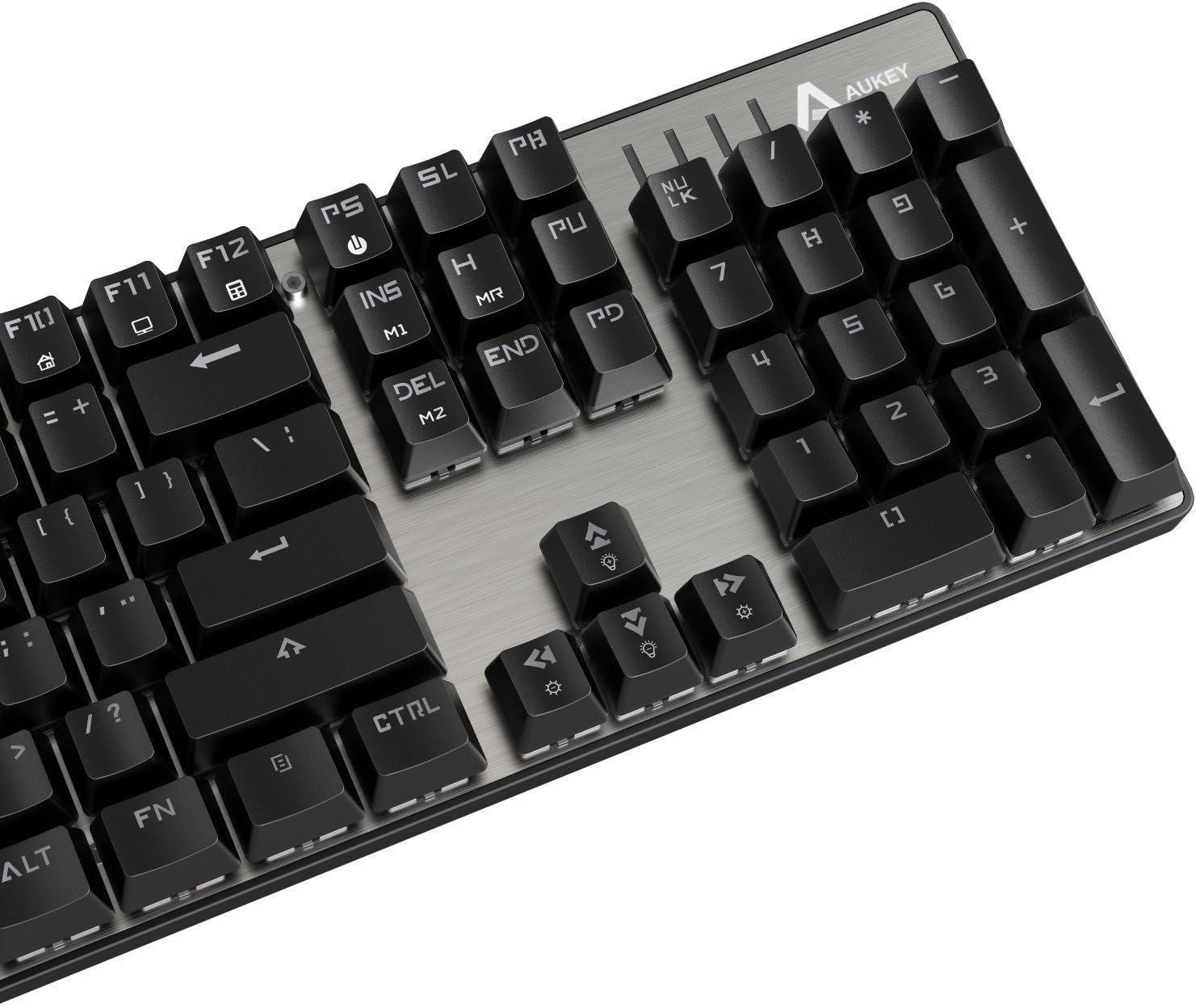 Aukey KM-G3 -TY-ES-N - Teclado Gaming mecánico (104 Teclas ...