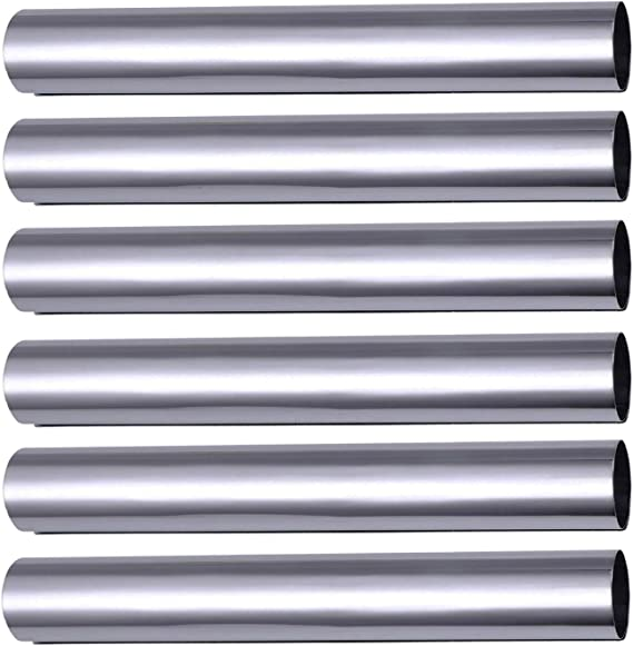Non-Stick Coated Teflon Traditional Baking Mould Iridescent Curl Shape Straight Tubes Piping Nozzles Cream Rolls rukauf Foam Rolling Moulds Pack of 6 Small 8 cm x 1.3 cm
