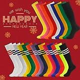 3street Long Baseball Socks Mens Womens Thigh-Highs Wickig Moisture Athletic Soccer Rugby Long Tube Socks White 10-Pairs