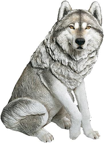 Sandicast Large Life Size Gray Wolf Sculpture