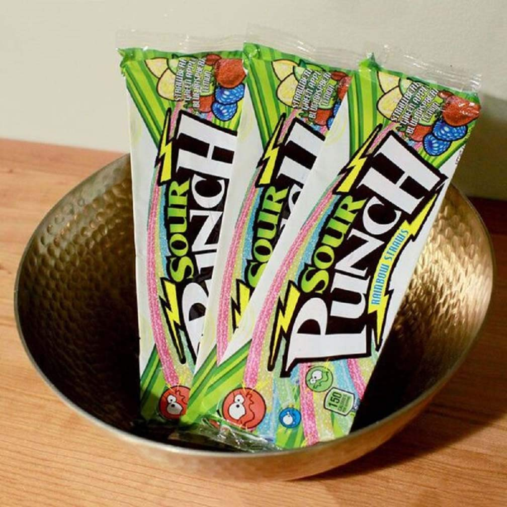 Sour Punch Straws, 4 Rainbow Fruit Flavors, Chewy Sweet & Sour Candy, 4.5oz Tray (24 Pack) by Sour Punch (Image #7)