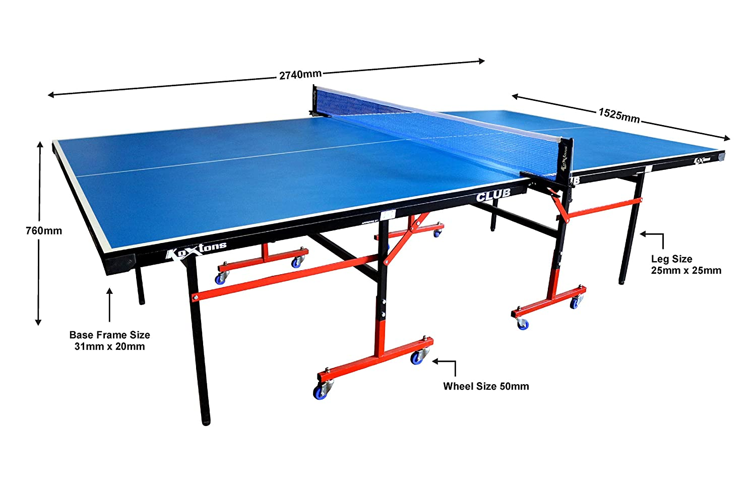 5a43ee5490eaf Buy Koxton Table Tennis Table - Club Online at Low Prices in India -  Amazon.in