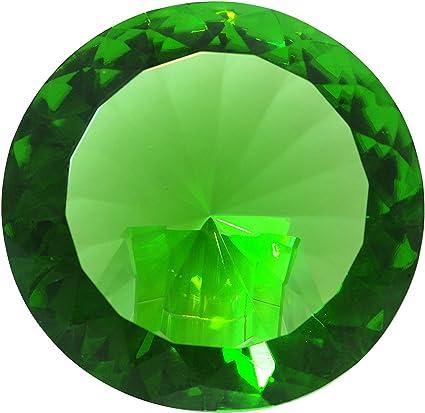 Tripact 120mm Emerald Green Crystal Diamond Jewel Paperweight 4.72 Inch